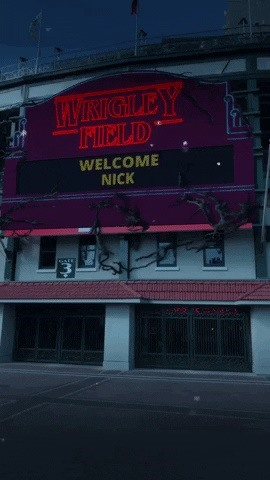 Snapchat transforms Wrigley Field into Upside Down for & # 39; Advertising for Stranger Things