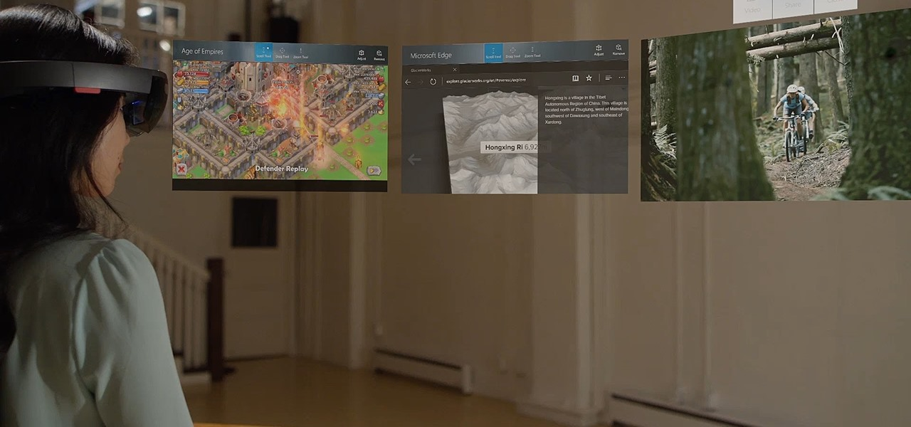 HoloLens' First Update Adds Voice Commands, Multitasking, & Much More