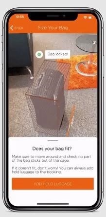 easyJet by Budget Airline packs Augmented Reality luggage verification into its mobile app