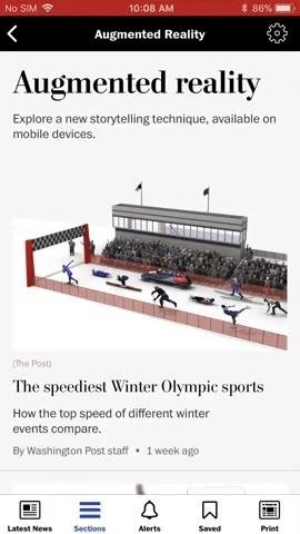 Washington Post Opts for Fun Over Function with AR App for Winter Olympics