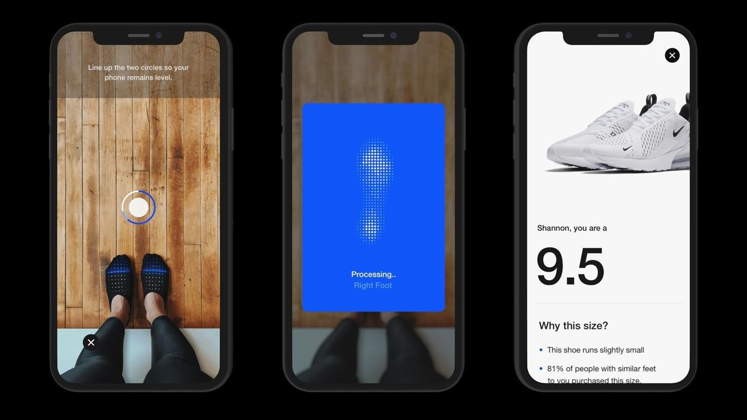 Nike Begins Using Augmented Reality for Sneaker Fitting in Mobile App & in Retail Stores