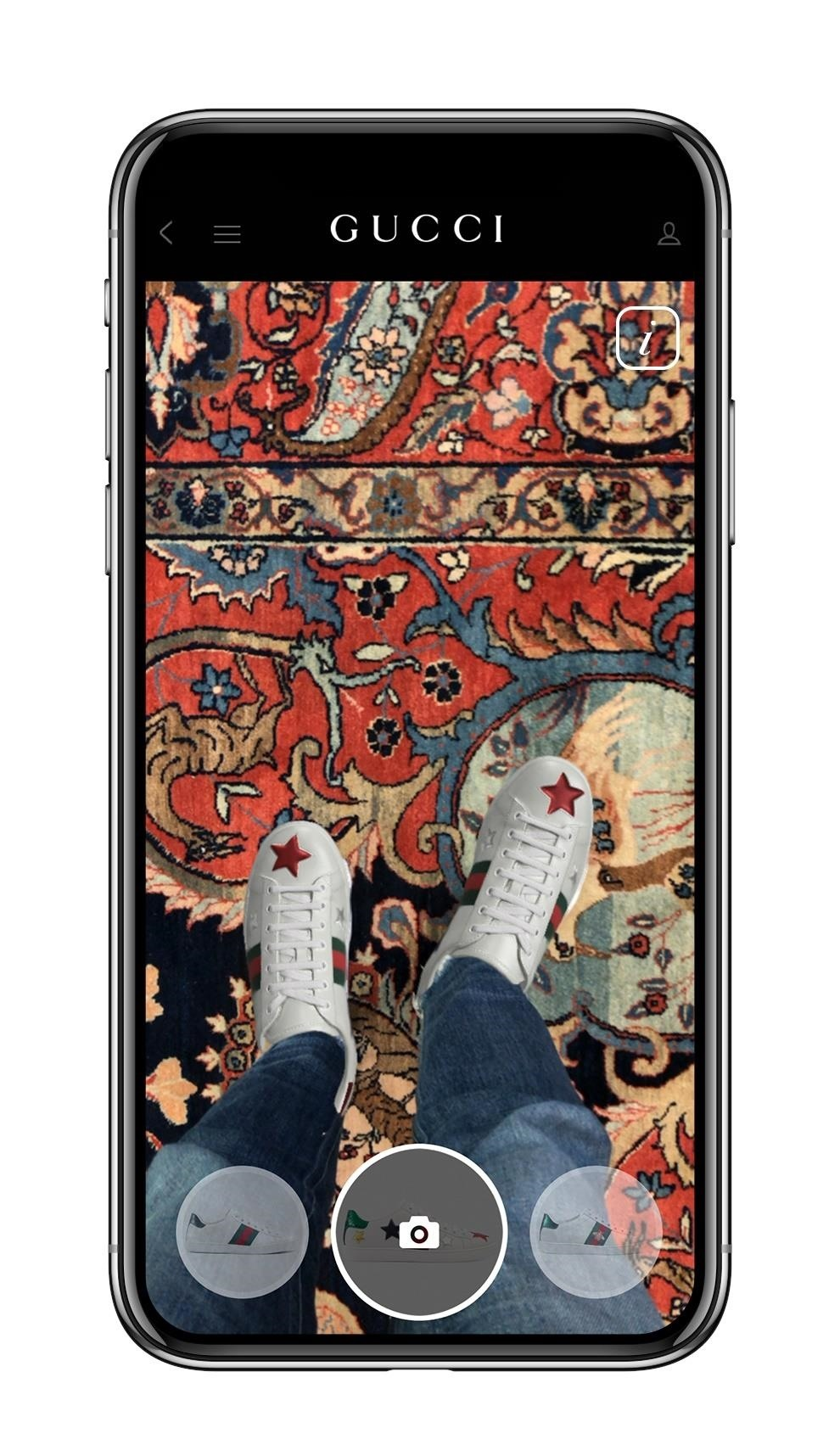 Apple iPhone Owners Can Now Try Out Gucci's Ace Sneakers via Augmented Reality