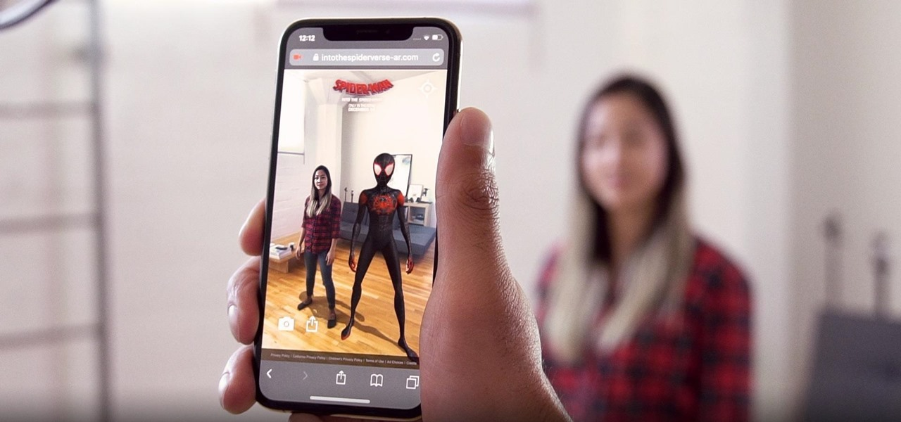 Amazon Sumerian & 8th Wall Weave Web AR Experience for 'Spider-Man: Into the Spider-Verse' Movie