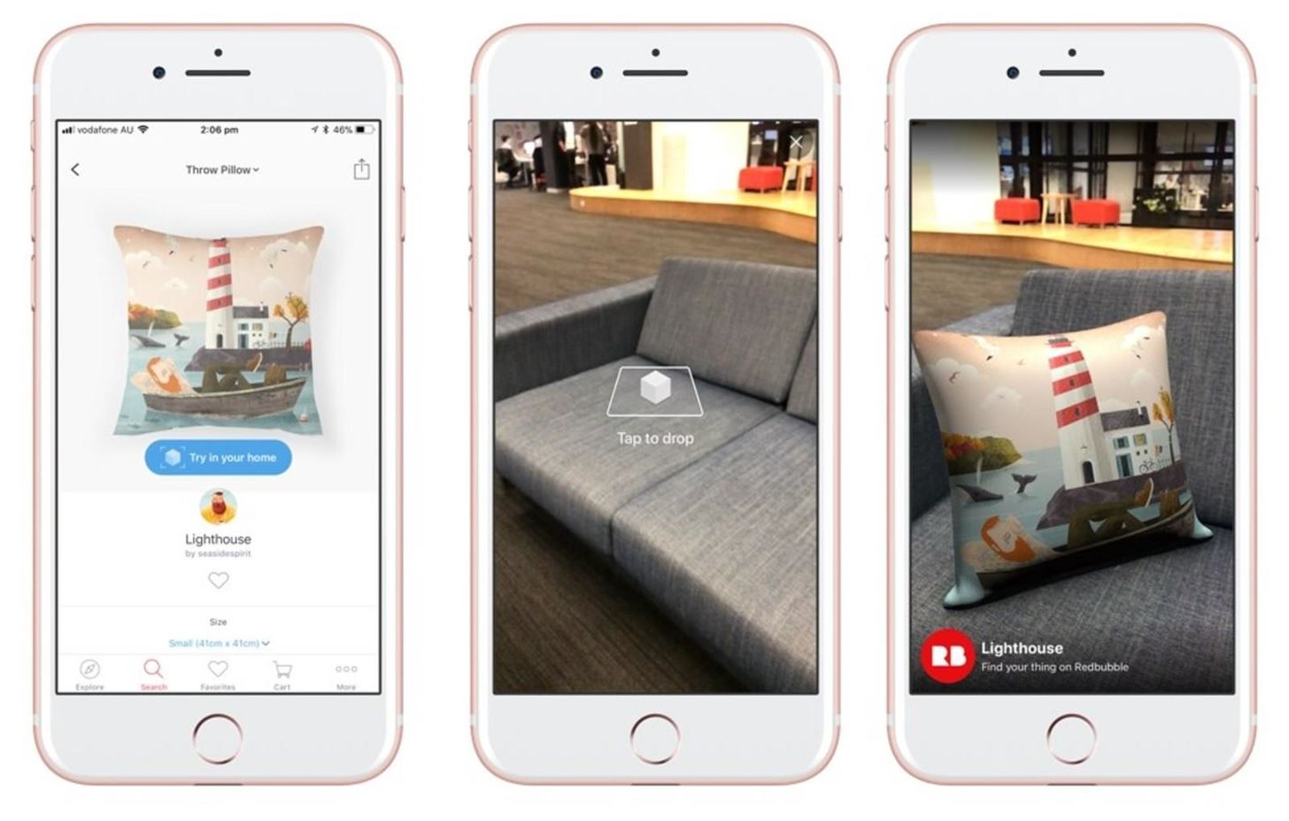 Apple AR: Redbubble Throws Pillows in AR with ARKit Update