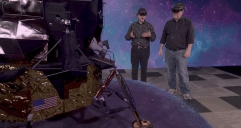 The Live HoloLens 2 demo of Apollo 11 from Microsoft did not fly, but You Can See Thanks for the Unreal Engine video
