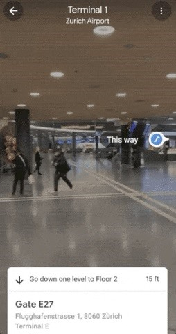 Google Maps Expands Live View AR Navigation Capabilities to Airports & Shopping Malls