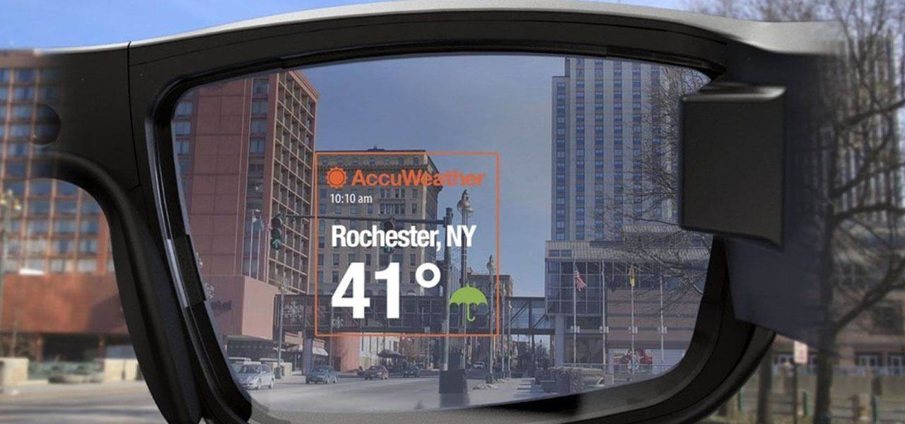Vuzix Blade Smartglasses says if the weather is terrible out there with AccuWeather App