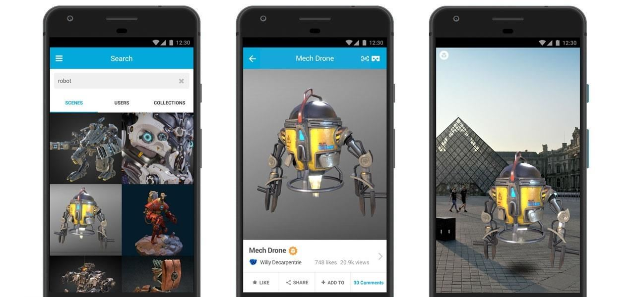 Sketchfab Fires Back at Google Poly with ARCore Update to Mobile App