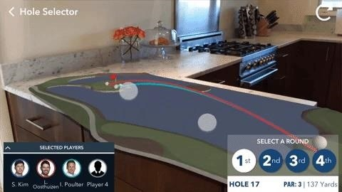 Apple AR: PGA Tour AR App Lets You Follow Golfers Live on Your Coffee Table