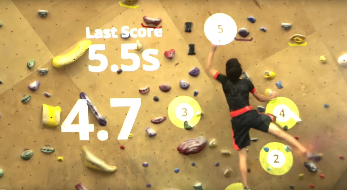 Augmented Reality Turns Rock Climbing into a Real-World Video Game