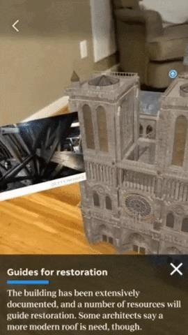 USA Today Enhances Notre Dame Fire Coverage with Augmented Reality Experience
