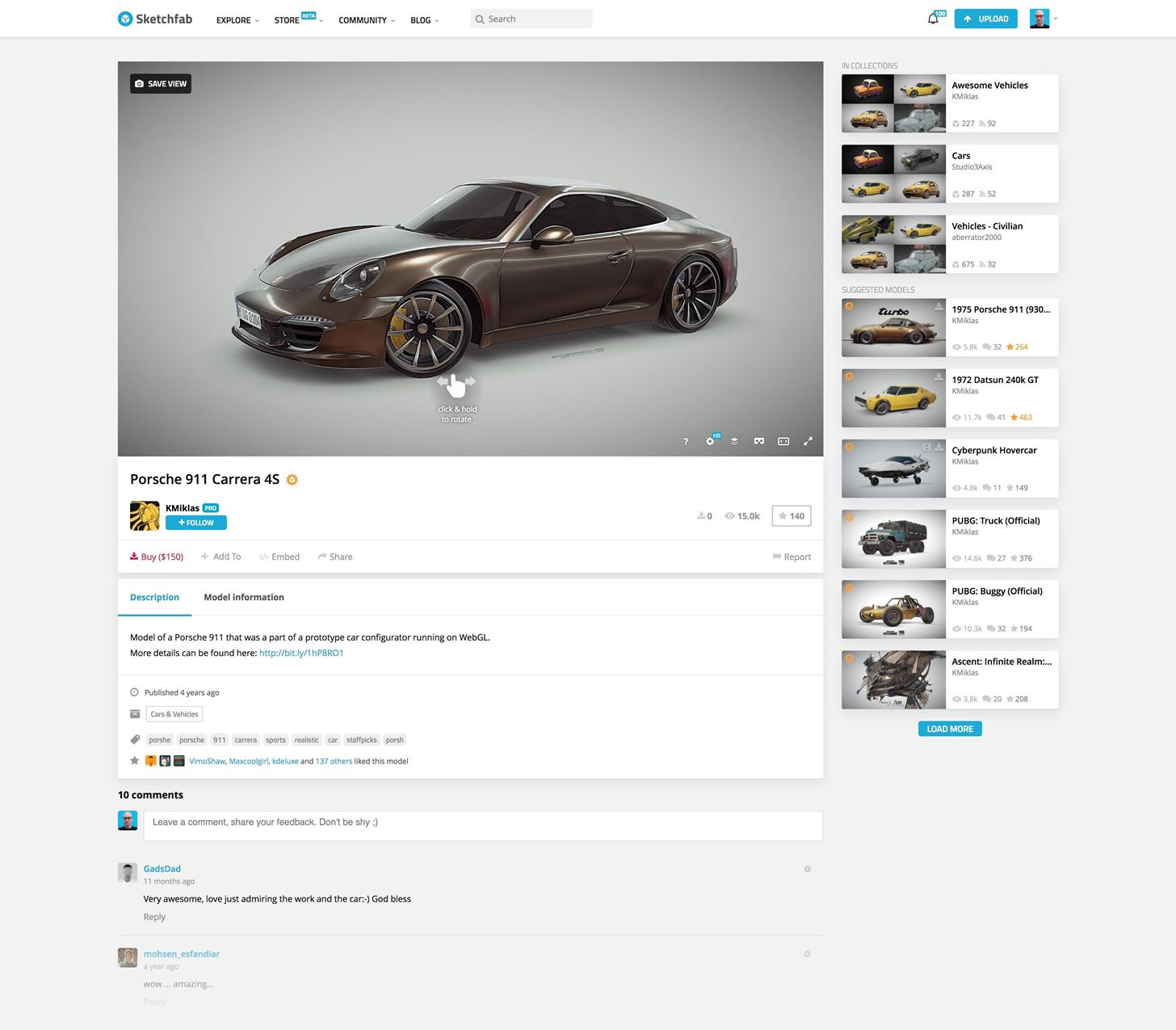 Sketchfab Launches Professional 3D Model Store for AR & VR