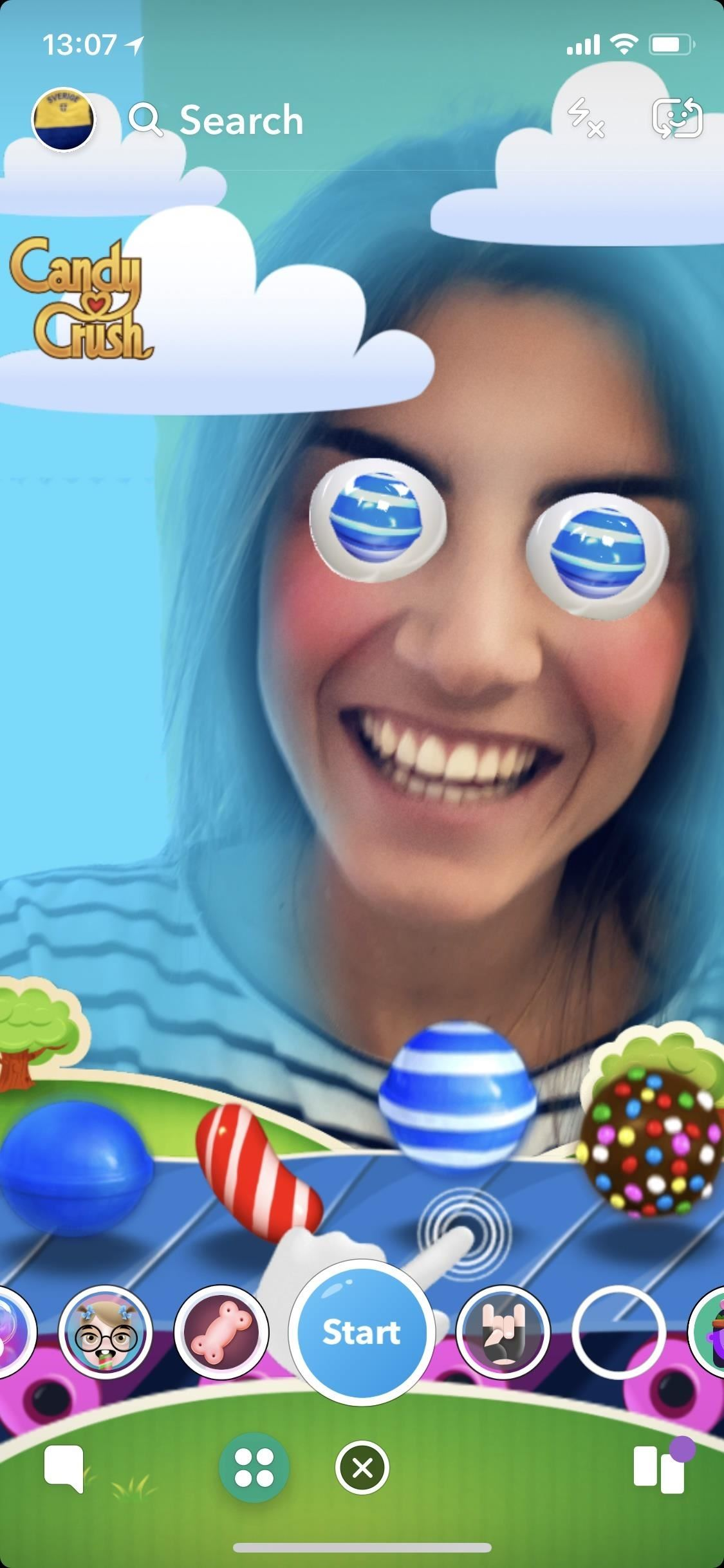 Snapchat unlocks snappable augmented reality games for brands such as Candy Crush, Bud Light and Dunkin & # 39; Donuts