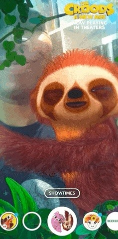 Dreamworks Delivers A Furry AR Selfie Lens on Snapchat for Release of 'The Croods: A New Age'